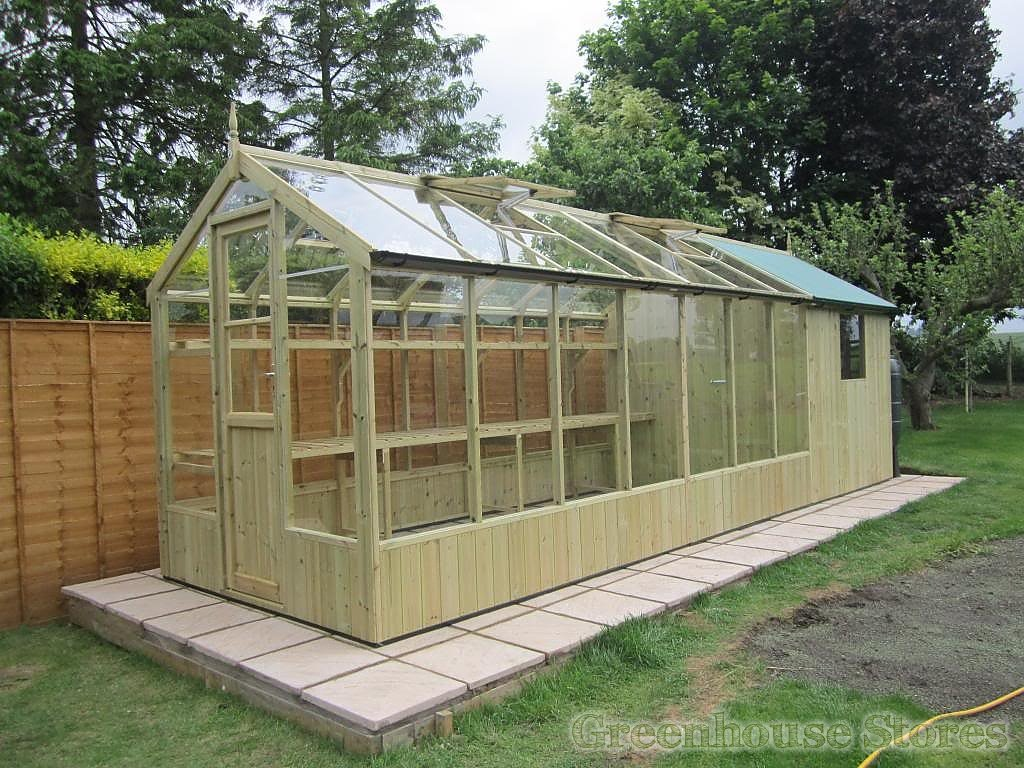 Swallow kingfisher 6x4 greenhouse shed combination Green house sheds