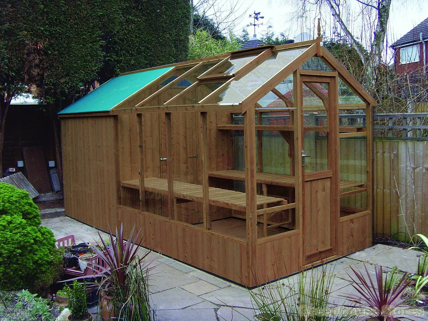 Swallow Kingfisher 6x8 Wooden Greenhouse Greenhouse Stores