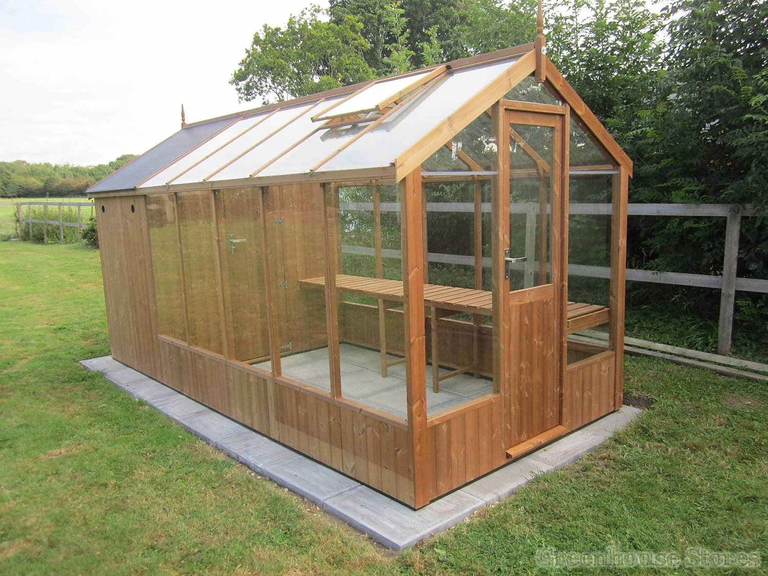 Swallow Kingfisher 6x10 Combi Greenhouse With 4ft Shed