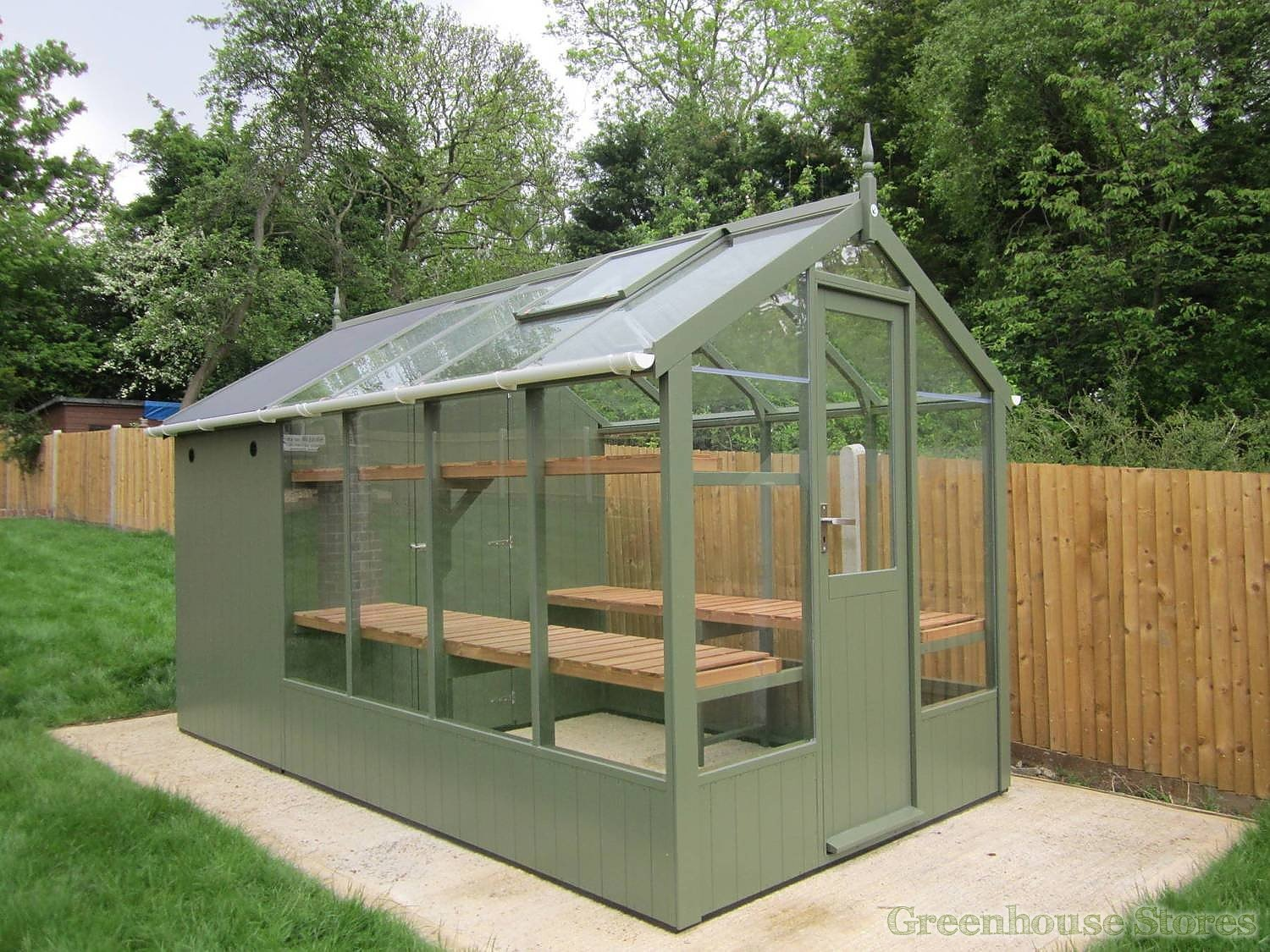 Swallow Kingfisher 6x4 Greenhouse 4ft Shed Combination