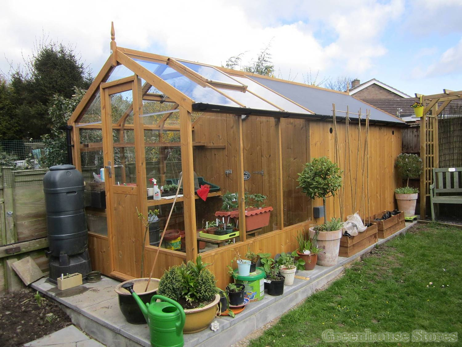 swallow kingfisher combi greenhouse 6x 6 with 8ft shed extension - Garden Sheds Greenhouses Combined