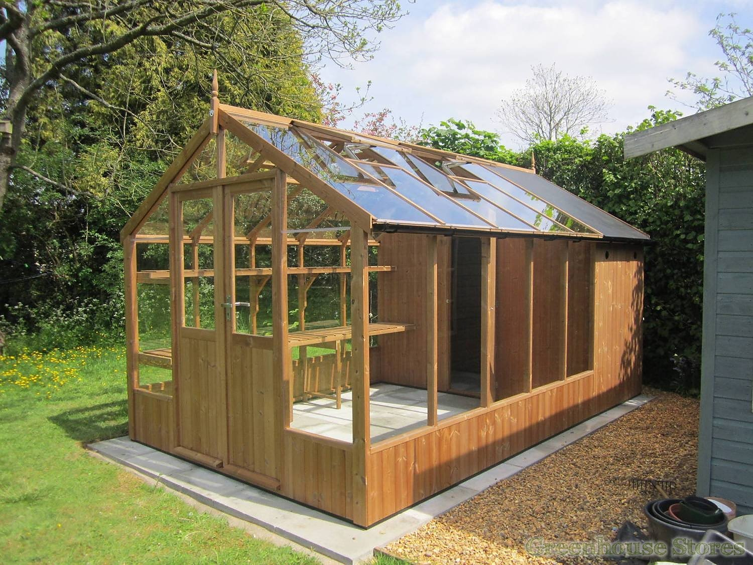 Swallow Raven 8x6 Greenhouse Shed Combination