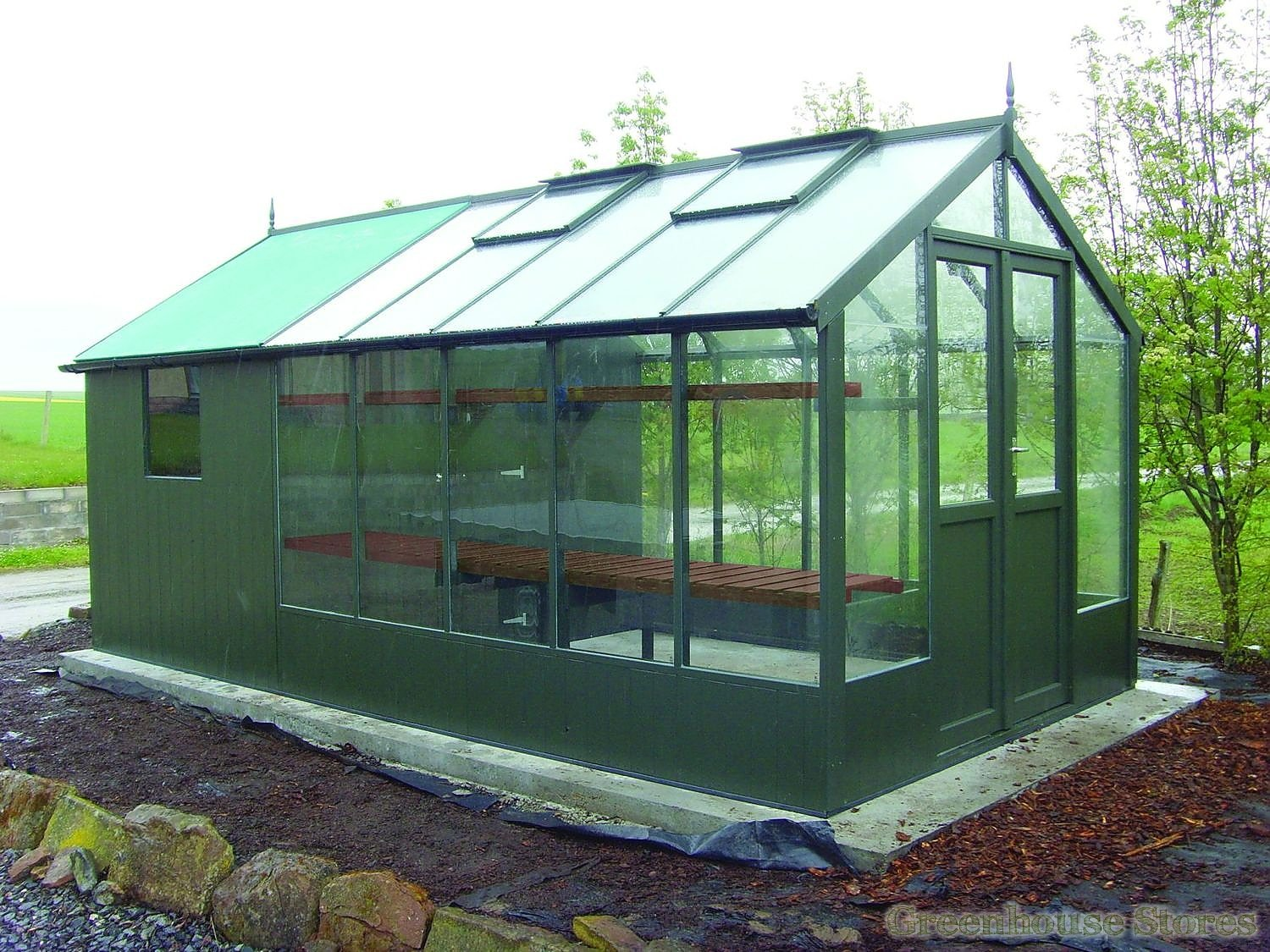 Swallow raven 8x6 wooden greenhouse greenhouse stores Green house sheds