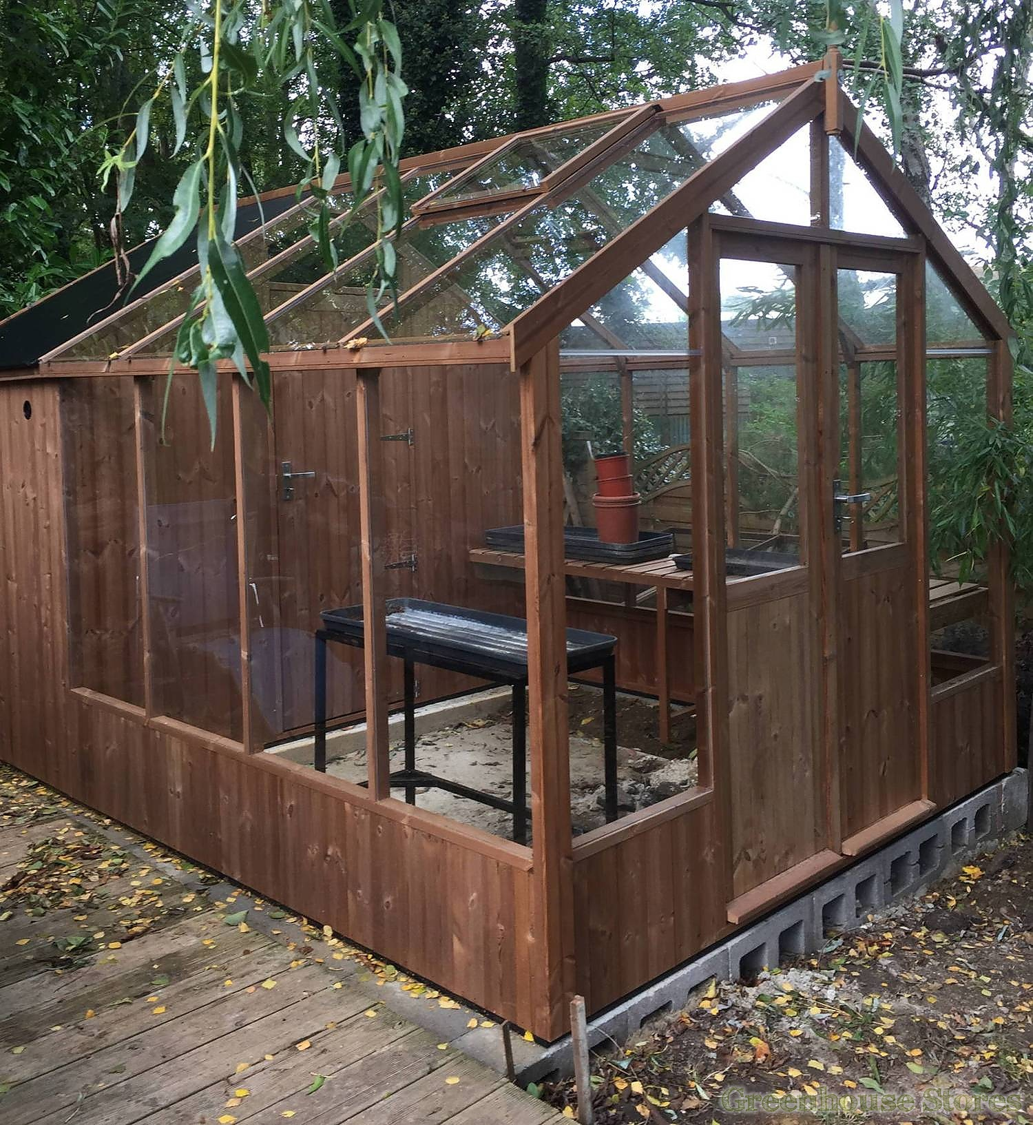 Swallow Raven 8x10 Greenhouse Shed Combination