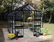 Eden Blockley Black 8x14 Greenhouse - Toughened Glazing