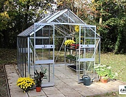 Eden Blockley Silver 8x14 Greenhouse - Toughened Glazing