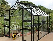 Eden Blockley Black 8x10 Greenhouse - Toughened Glazing