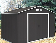 Emerald Anthracite Springdale 10x8 Metal Shed