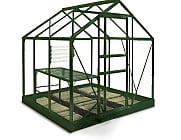 6x6 Green Halls Popular Greenhouse - Horticultural Glass
