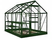 8x6 Green Halls Popular Greenhouse - Horticultural Glass