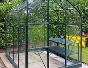 Vitavia Orion Green 8x6 Greenhouse - 3mm Toughened Glazing