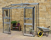 Eden-Broadway-Silver-4x8-Lean-To-Greenhouse-Toughened-Glazing