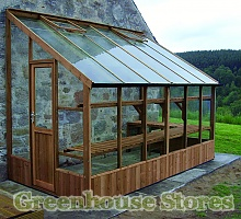 Swallow Dove Lean to Wooden Greenhouse