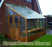 Swallow Heron Lean to Wooden Greenhouse