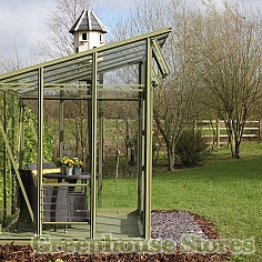 Elite Edge Pent Roof Greenhouse SIde Profile