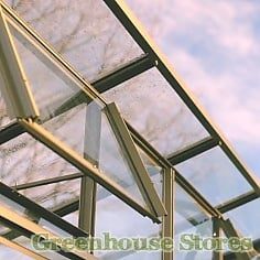 Elite The Edge Pent Roof Greenhouse Roof Close-up