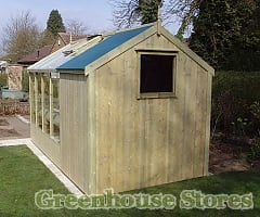 Combined Greenhouse Shed Greenhouse Stores