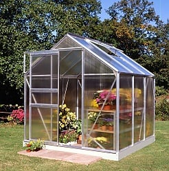 Halls Popular 6x6 Greenhouse - Polycarbonate Glazing