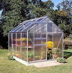 Halls Popular 6x8 Greenhouse - Polycarbonate Glazing