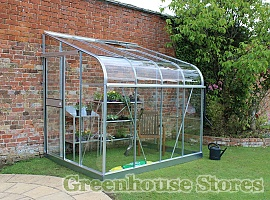 Halls Silverline 6x8 Lean to Greenhouse With Horticultural Glazing