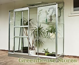 Halls 2x6 Wall Garden Lean-to Greenhouse With Toughened Glazing