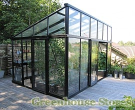 Modern Pent Roof Greenhouse