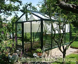 Janssens Mur Dwarf Wall Greenhouse in Black