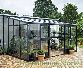 10ft Wide Lean To Greenhouses