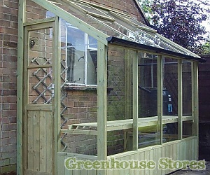 Swallow Finch 4ft Wide Lean to Greenhouse