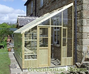 Swallow Heron 8ft Wide Lean to Greenhouse