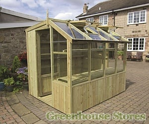 Swallow Dove 6ft Wide Lean to Greenhouse