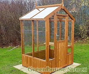 Swallow Lark 4x4 Wooden Greenhouse in Thermowood