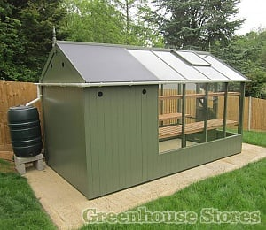 Swallow Kingfisher Combi 6x8 with 4ft Shed Painted