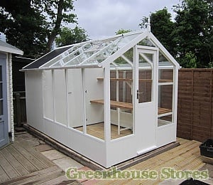 Swallow Kingfisher Combi Greenhouse 6x8 with 4ft Shed Painted Lily