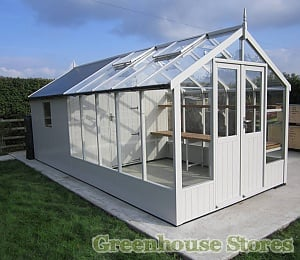 Swallow Raven 8x10 Combi Greenhouse with 6ft Shed Painted Lily