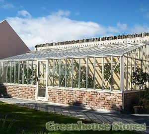 Janssens Arcadia Mur Plus Lean to Greenhouses