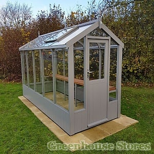 Swallow Lark 4x10 Wooden Greenhouse in Slate