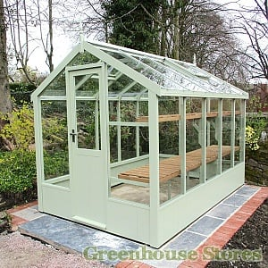 Cotswold Victorian 6x10 Wooden Greenhouse in Grey