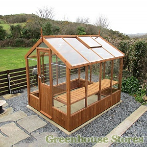 Swallow Kingfisher 6x4 Greenhouse in Thermowood