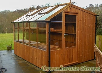 Halls 2x6 Wall Garden Lean to Greenhouse With Toughened Glazing
