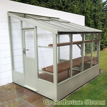 Swallow Starling Low Height Wooden Lean to Greenhouse