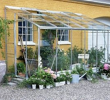 Eden Lean-to 6x10 Greenhouse - 3mm Horticultural Glazing