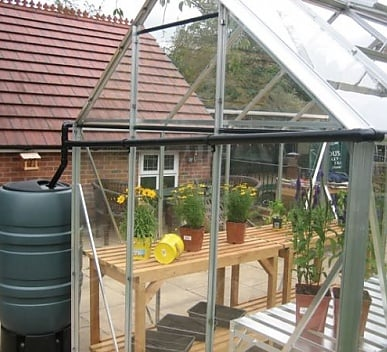 Elite Rainwater Kit to One Gutter 8ft wide Greenhouse