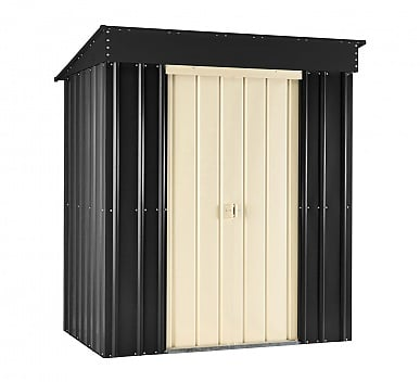 Lotus 5x3 Pent Metal Shed Slate Grey