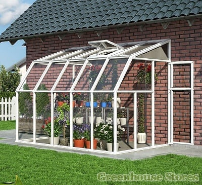 Rion Sun Room 6x10 Lean to Greenhouse - Polycarbonate Glazing