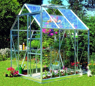 Eden Countess Silver 5x6 Greenhouse - Polycarbonate Glazing