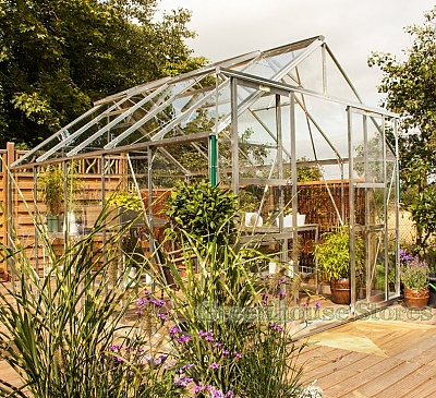 Eden Consort Silver 8x10 Greenhouse - Toughened Glazing