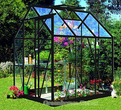 Eden Countess Black 5x6 Greenhouse - 3mm Toughened Glazing