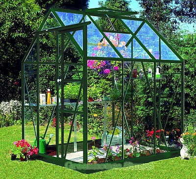 Eden Countess Green 5x6 Greenhouse - Horticultural Glazing