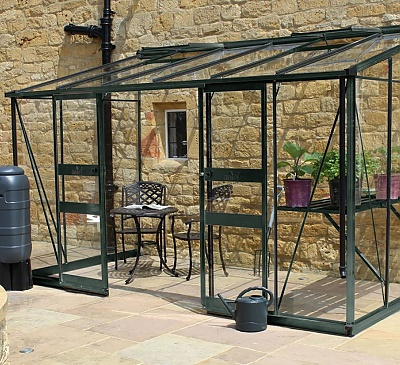 Eden Broadway Green 6x12 Lean to Greenhouse - Polycarbonate Glazing